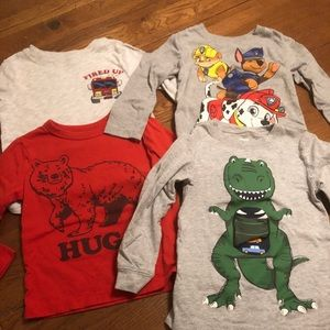 Set of 4 boys 3T long sleeve shirts
